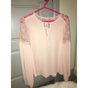 Forever 21 sheer key hole top